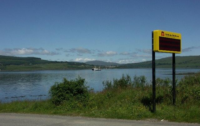 Lochaline and Lochaline Ferry from Fishnish