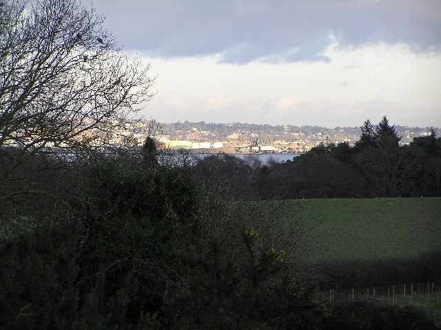 View across to Poole harbour