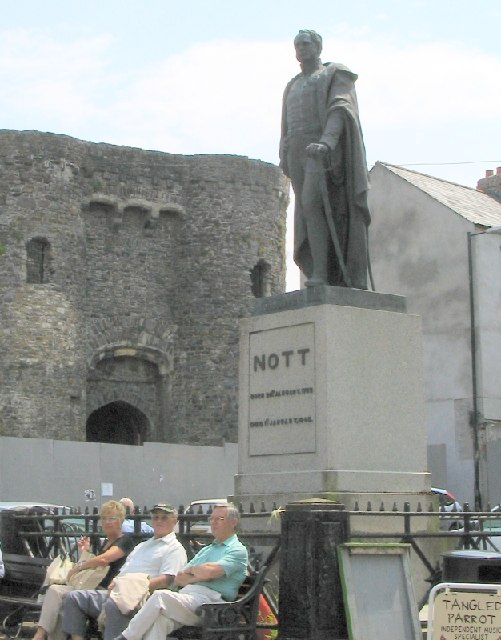 Statue in Nott Square Carmarthen