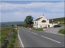SK0390 : The Grouse Inn - on A624 above Chunal. by Alan Fleming