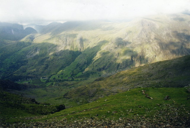 Llanberis Pass from the Snowdon Mountain Railway