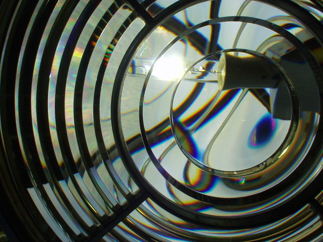 A lens at St. Catherine's Lighthouse, I.o.W.