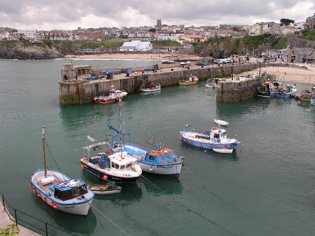 Newquay Harbour & Town Beach