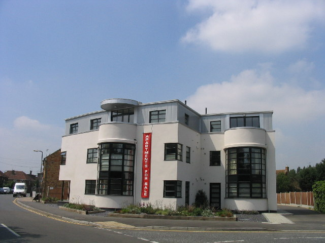 TQ6288 : Recently built Art Deco building, West Horndon, Essex