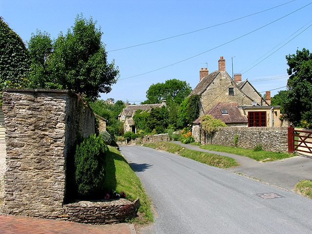 Main street in Ampney Crucis