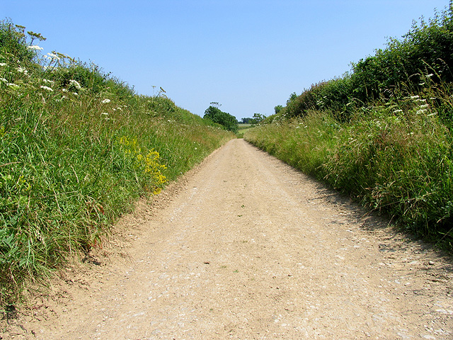 Country Road from Ampney St Mary's to the Roman Road