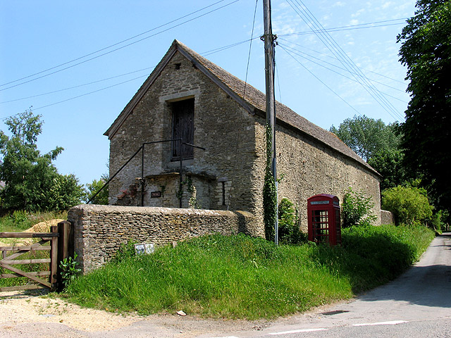 The Mill and Telephone Booth: Ampney St Mary's