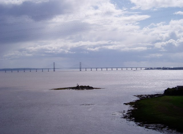 New Severn Bridge from the Old
