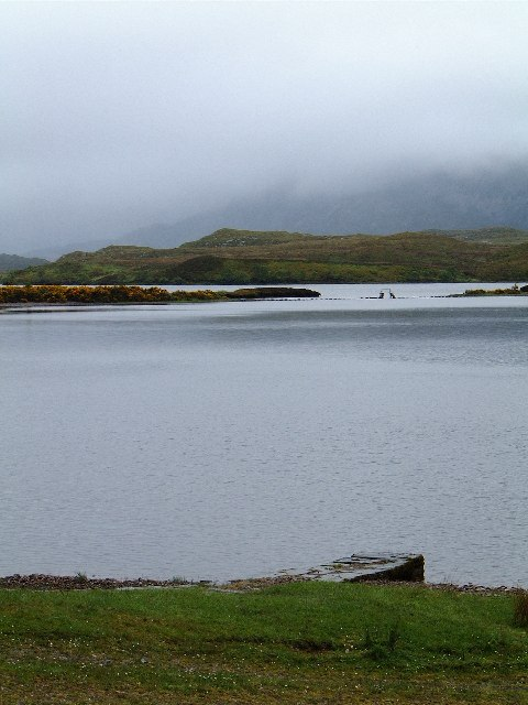 Loch nan Ealachan (Swan Loch), Arkle in the mist