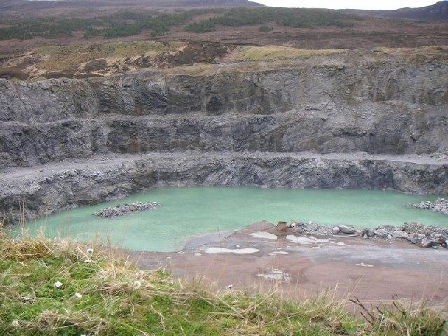 Quarry in Glen Achall