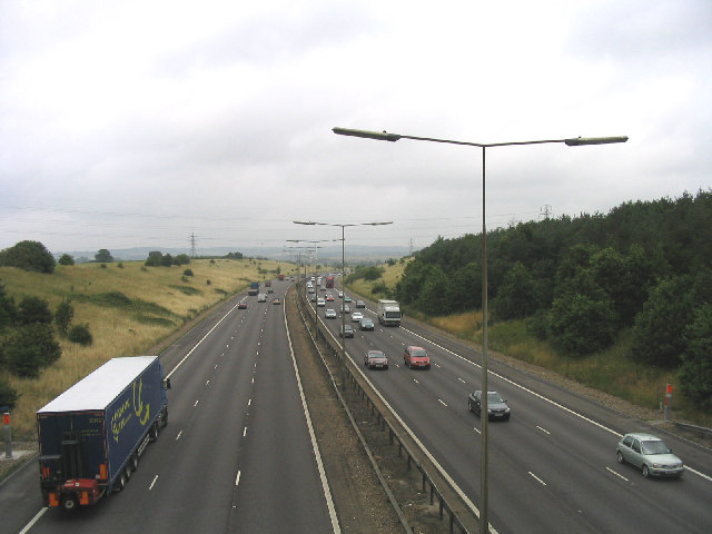 M25 Motorway, North Ockendon, Essex