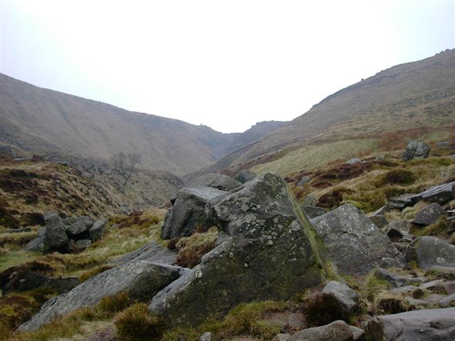 Grindsbrook Clough, heading up to Edale Moor