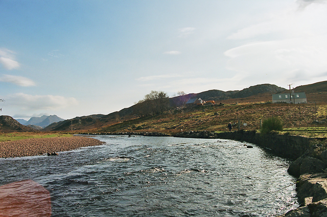 River Gruinard near the A832 Bridge