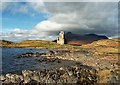 NC2323 : Ardvreck Castle on the Shore of Loch Assynt by Richard Baker