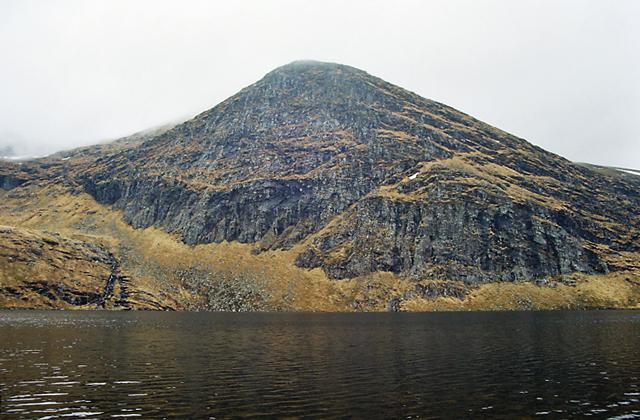 Loch a' Mhadhaih with Creag a' Mhadhaih Behind