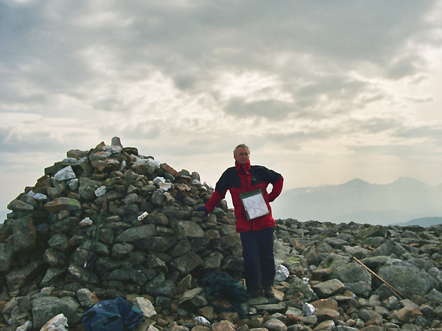 The Summit Cairn of Beinn Dearg (Ullapool)