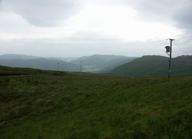 View down Glendaruel from near Strathlachan Forest