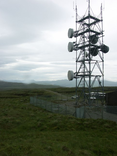 Microwave tower near Strathlachan Forest