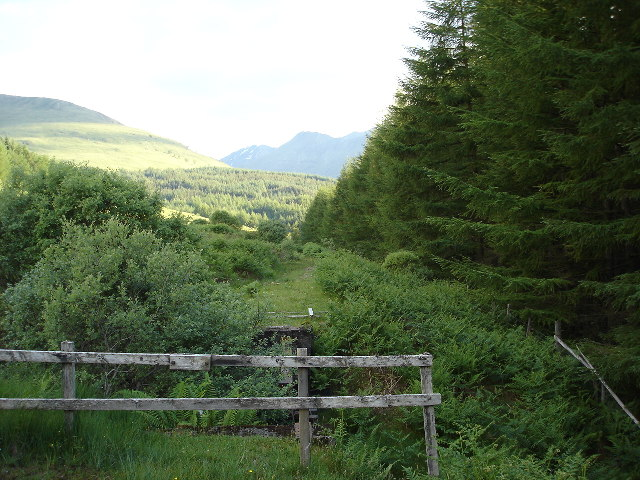 Dismantled bridge and disused tram way near Spean Bridge