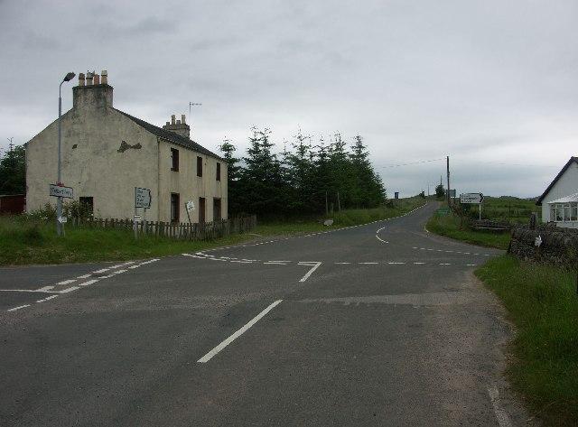 Millhouse crossroads near Tighnabruaich