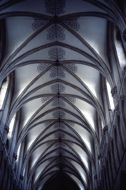 Inside Wells Cathedral: Ceiling