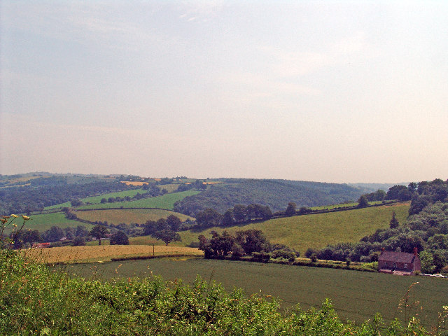 A view to the south west from Posbury, near Crediton