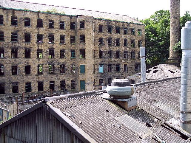 Derelict Mill, Dean Clough