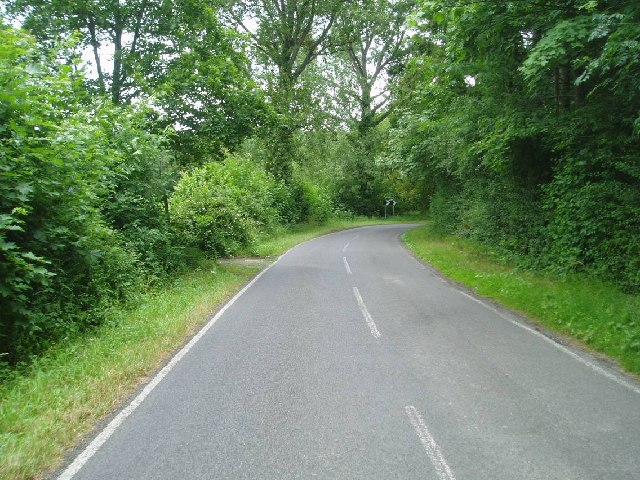 The bend in the road near Horsted Keynes station