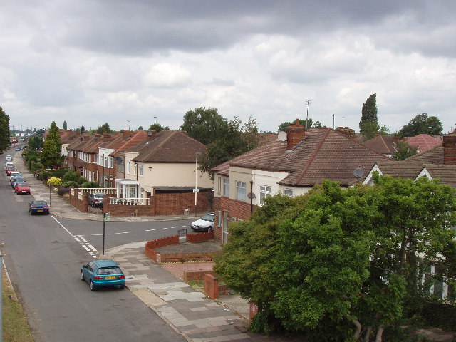 Western Avenue houses, near  South Greenford Station