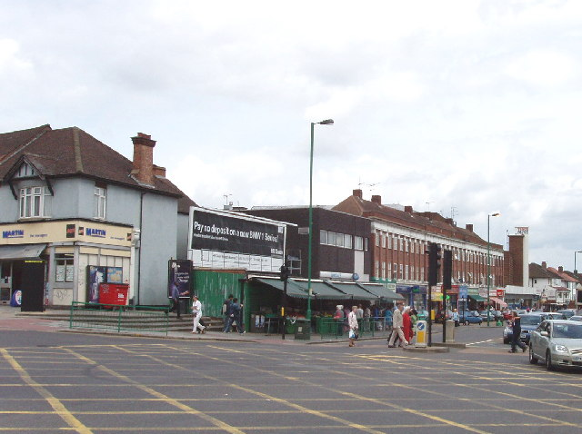 Central crossroads of Greenford, looking North