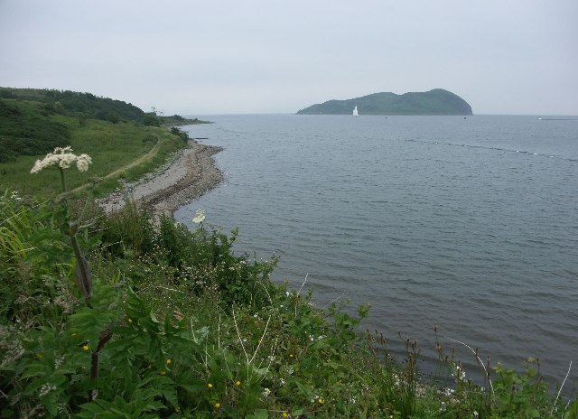 Entrance to Campbeltown Bay and Davaar Island from Trench Point