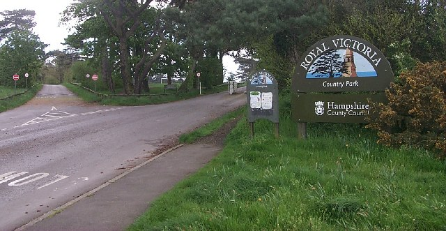 Entrance to the Royal Victoria Country Park