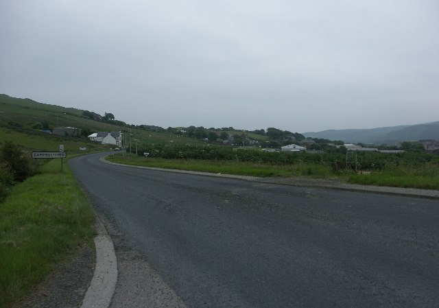Entrance to Campbeltown from A83
