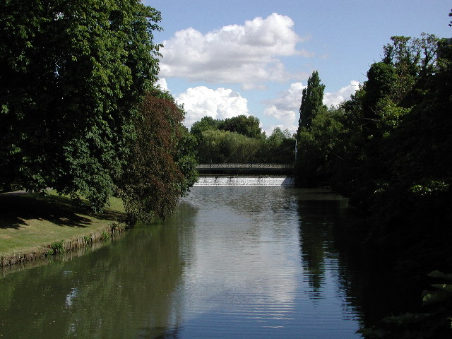 The River Leam, Royal Leamington Spa