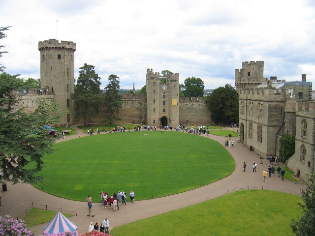 Warwick Castle courtyard