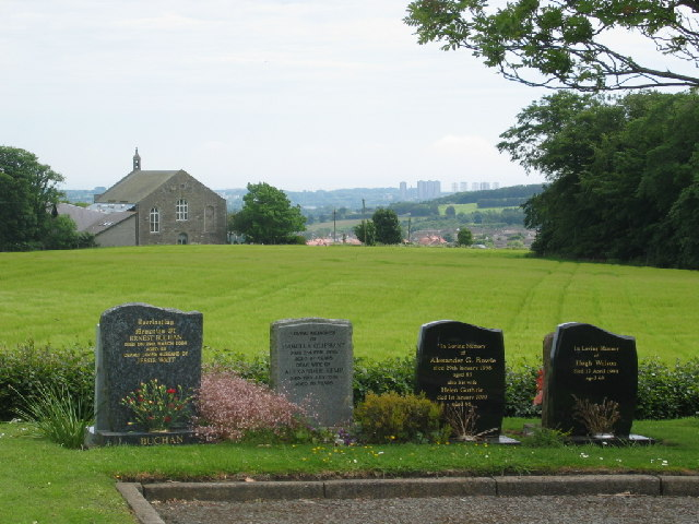 View of Newhills church from the cemetery
