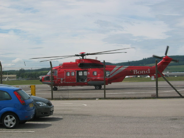Helicopter at Aberdeen airport- East terminal
