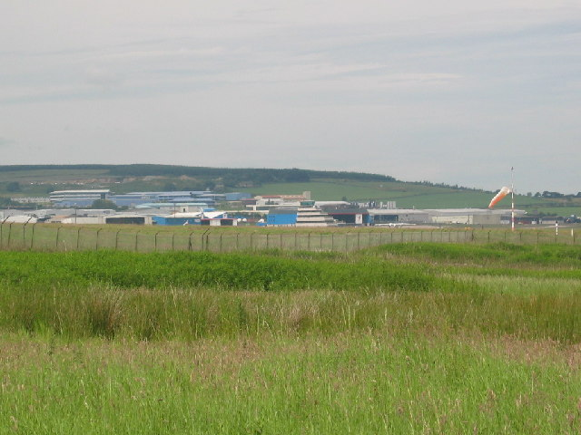 View across the grid square towards Aberdeen airport