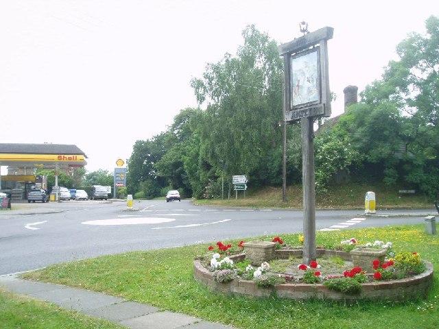 Ansty Cross mini roundabout