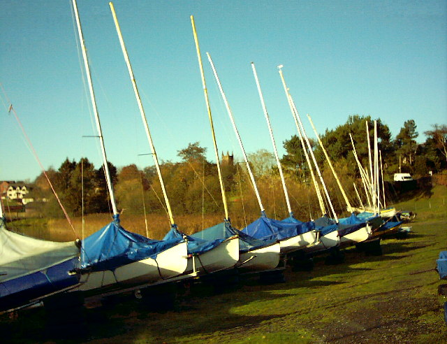 Annandale Sailing Club,Lochmaben and Lochmaben Church in the background