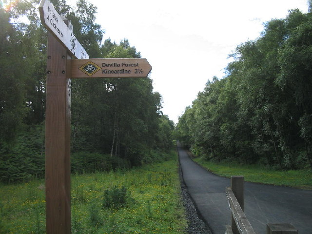 West Fife Cycleway, Devilla turn off.