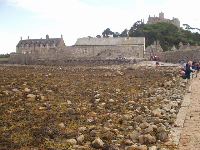 Approaching St Michael's Mount from the causeway