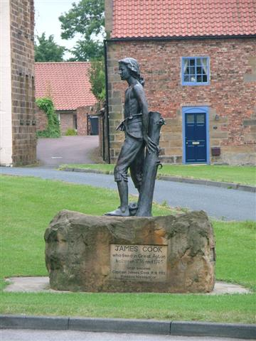 Statue of James Cook as a Boy