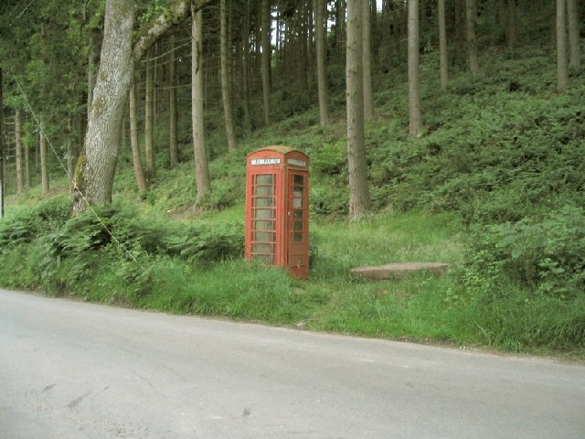 Phonebox in Mynydd Du Forest