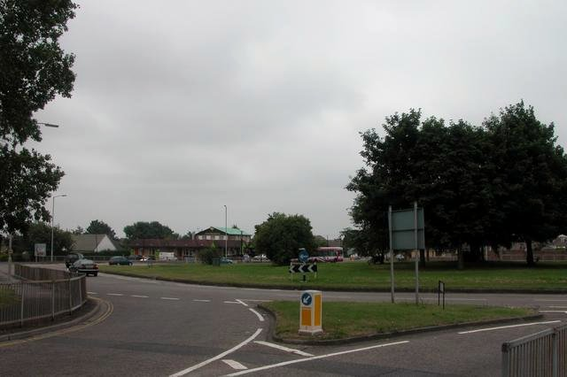Roundabout on A27 at Portchester