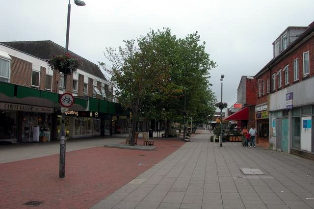 Portchester shopping area.