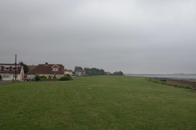 Southern extent of housing in Portchester.