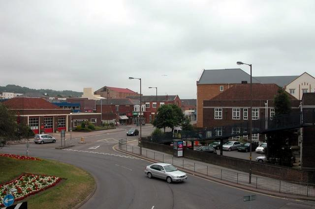 Cosham Fire Station and Police Station.