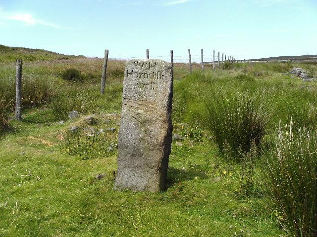 Horncliffe Well gatepost