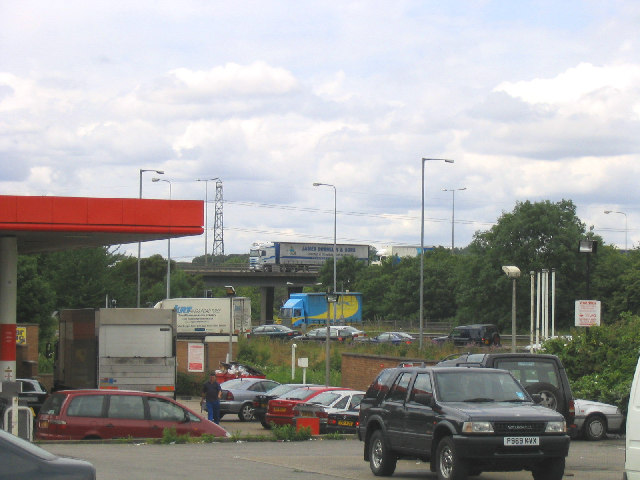 Junction 28, M25 Motorway, Brentwood, Essex